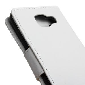 PU kožené pouzdro na mobil Samsung Galaxy A5 (2016) - bílé - 7