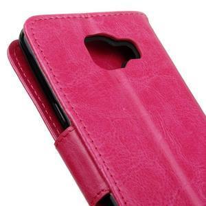 PU kožené pouzdro na mobil Samsung Galaxy A5 (2016) - rose - 7