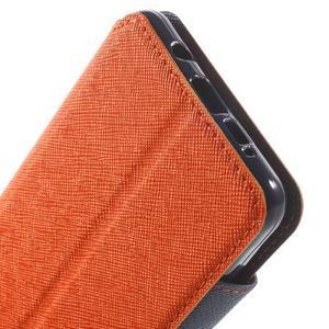 Peněženkové pouzdro s okýnkem na Samsung Galaxy A5 (2016) - oranžové - 7