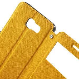 Peněženkové pouzdro s okýnkem na Samsung Galaxy A5 (2016) - žluté - 7