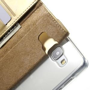 Moon PU kožené pouzdro na Samsung Galaxy A5 (2016) - zlaté - 7