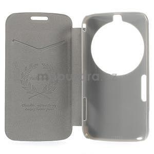 Hnědé peněženkové pouzdro na Samsung Galaxy K Zoom C115 - 7