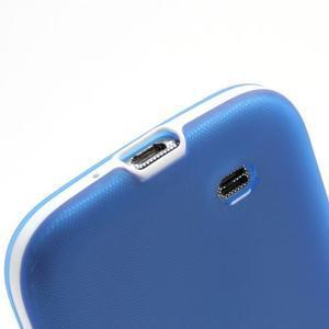 Gelové pouzdro 2v1 na Samsung Galaxy S4 - modré - 7