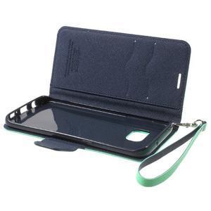 Mercury Orig PU kožené pouzdro na Samsung Galaxy S7 Edge - azurové - 7