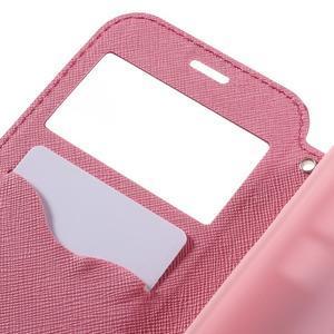Diary pouzdro s okýnkem na Samsung Galaxy S7 - rose - 7