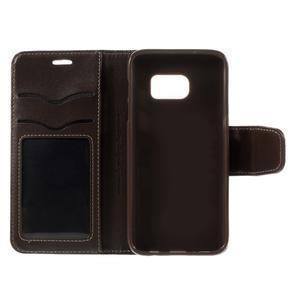 Rich PU kožené peněženkové pouzdro na Samsung Galaxy S7 - coffee - 7