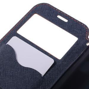 Diary pouzdro s okýnkem na Samsung Galaxy S7 - oranžové - 7