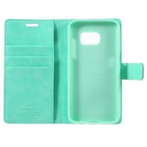 Moon PU kožené pouzdro na mobil Samsung Galaxy S7 - azurové - 7