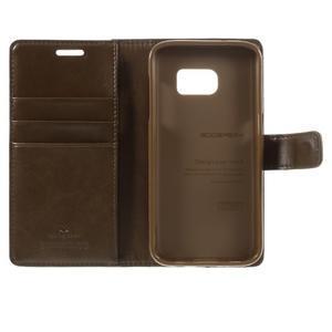 Moon PU kožené pouzdro na mobil Samsung Galaxy S7 - coffee - 7