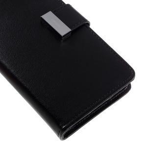 Luxury PU kožené pouzdro na Samsung Galaxy S7 - černé - 7