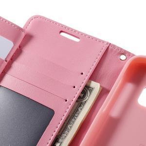 Luxury PU kožené pouzdro na Samsung Galaxy S7 - růžové - 7