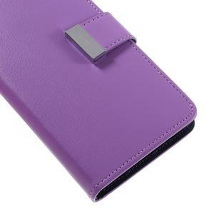 Luxury PU kožené pouzdro na Samsung Galaxy S7 - fialové - 7
