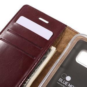 Bluemoon PU kožené pouzdro na mobil Samsung Galaxy S7 - tmavěčervené - 7