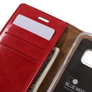 Bluemoon PU kožené pouzdro na mobil Samsung Galaxy S7 - červené - 7