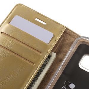 Bluemoon PU kožené pouzdro na mobil Samsung Galaxy S7 - zlaté - 7