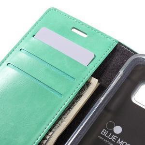 Bluemoon PU kožené puzdro pre mobil Samsung Galaxy S7 - cyan - 7