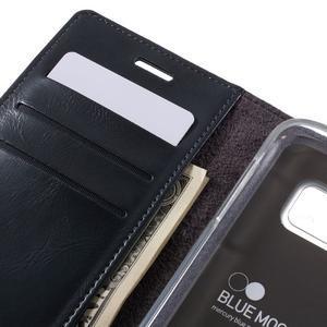 Bluemoon PU kožené pouzdro na mobil Samsung Galaxy S7 - tmavěmodré - 7