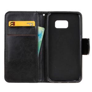 Stand peněženkové pouzdro na Samsung Galaxy S7 - černé - 7