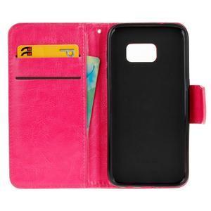 Stand peněženkové pouzdro na Samsung Galaxy S7 - rose - 7