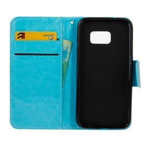 Stand peněženkové pouzdro na Samsung Galaxy S7 - modré - 7