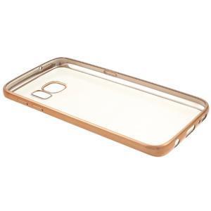 Gelový obal se zlatým rámečkem na Samsung Galaxy S7 - 7