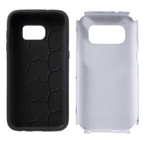 Dvoudílný odolný kryt na Samsung Galaxy S7 - šedý - 7
