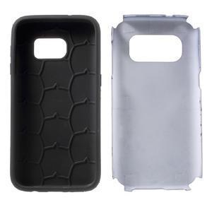 Dvoudílný odolný kryt na Samsung Galaxy S7 - tmavěmodrý - 7