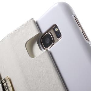 Sonata PU kožené pouzdro na Samsung Galaxy S7 - bílé - 7