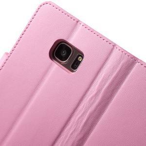 Sonata PU kožené pouzdro na Samsung Galaxy S7 - růžové - 7