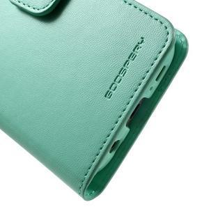 Sonata PU kožené pouzdro na Samsung Galaxy S7 - azurové - 7