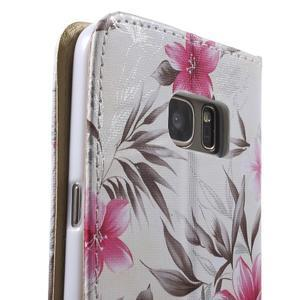 Flower pouzdro na mobil Samsung Galaxy S7 - bílé pozadí - 7