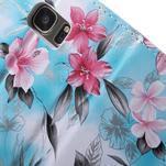 Flower pouzdro na mobil Samsung Galaxy S7 - modré pozadí - 7/7