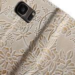 Květinové pěněženkové pouzdro na Samsung Galaxy S7 - béžovobílé - 7/7