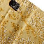 Květinové pěněženkové pouzdro na Samsung Galaxy S7 - žluté - 7/7