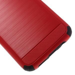 Odolný dvoudílný obal na Samsung Galaxy S7 edge - červený - 7