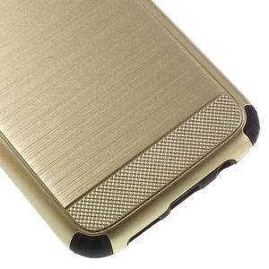 Odolný dvoudílný obal na Samsung Galaxy S7 edge - zlatý - 7