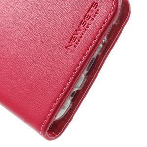 Rich PU kožené pouzdro na Samsung Galaxy S7 edge - rose - 7
