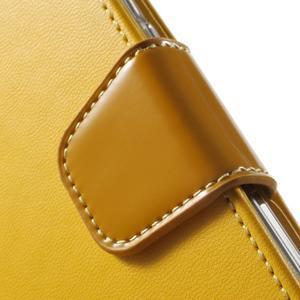 Rich PU kožené pouzdro na Samsung Galaxy S7 edge - žluté - 7