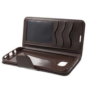 Rich PU kožené pouzdro na Samsung Galaxy S7 edge - hnědé - 7