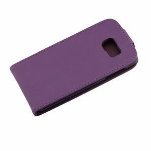 Flipové pouzdro na mobil Samsung Galaxy S7 edge - fialové - 7