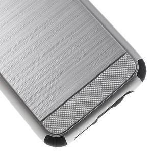 Odolný dvoudílný obal na Samsung Galaxy S7 edge - stříbrný - 7