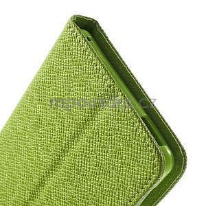 Zelené PU kožené peněženkové pouzdro na Sony Xperia M4 Aqua - 7
