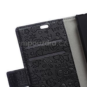 Černé texturované pouzdro na Sony Xperia M4 Aqua - 7