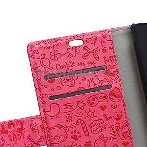 Rose texturované pouzdro na Sony Xperia M4 Aqua - 7