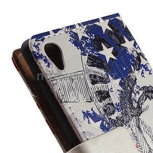 Peněženkové pouzdro na Sony Xperia M4 Aqua - Socha Svobody - 7