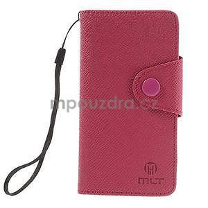 Peněženkové PU kožené pouzdro na Sony Xperia Z1 Compact - rose - 7