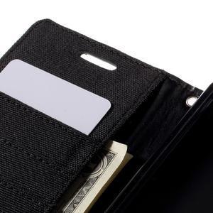 Canvas PU kožené/textilní pouzdro na Sony Xperia Z5 - černé - 7