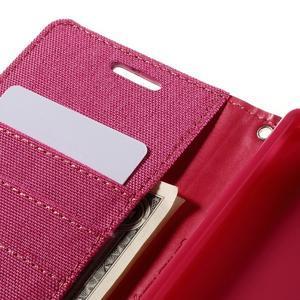 Canvas PU kožené/textilní pouzdro na Sony Xperia Z5 - rose - 7