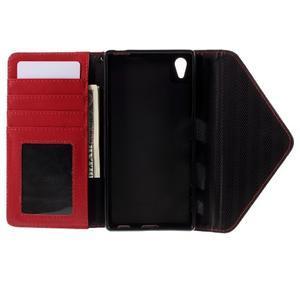 Stylové peněženkové pouzdro Sony Xperia Z5 - červené - 7