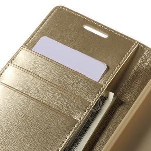 Sonata PU kožené peněženkové pouzdro na Sony Xperia Z5 - zlaté - 7